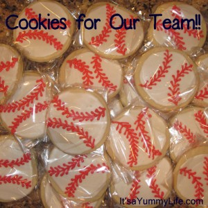 baseball cookies for the team