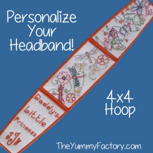 headband 4x4 personalized