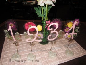 bunco numbers with flowers